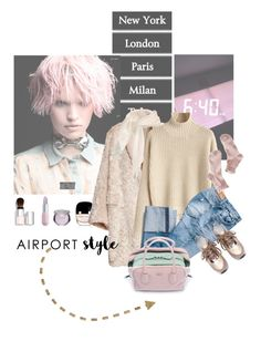 """""""Wanderlust Wonderful: Airport Style"""" by lacas ❤ liked on Polyvore featuring Marc Jacobs, H&M, Prada, Chantecaille, 1937, Sephora Collection, Winky Lux and airportstyle"""