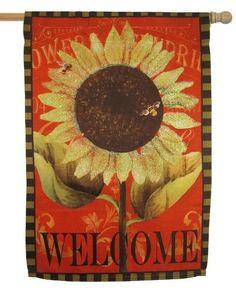IAmEricas Flags   Burlap Summer Sunflower Garden Flag, $8.00  (http://www.iamericasflags.com/products/burlap Summer Sunflower Garden Flag.html)  | Pinterest ...