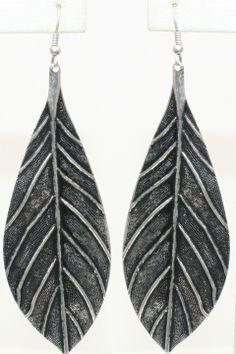 Burnished Leaf Earrings - Beyond the Rack