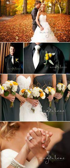 Lainee & Jeff's Real Outdoor Fall Wedding - Gorgeous! #fallweddings
