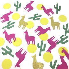 Llama Confetti, alpaca confetti birthday party confetti , envelope fillers, Tropical confetti, party bag confetti, table confetti