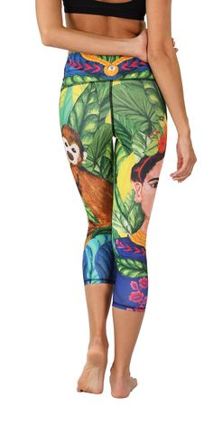The Frida Crops are the first in the goddess collection. These crops are unique wearable works of art honoring painter Frida Kahlo who was th Easy Workouts, Nike, Yoga Leggings, Vibrant Colors, Easy Fitness, Prints, Healthy, Clothes, Outfits