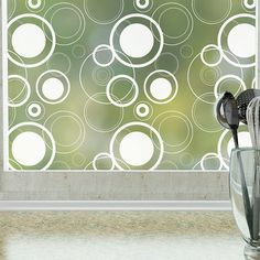 Features: -Fully frosted privacy film. -Non-adhesive material for easy removal. -Material: PVC, glass. -Eco-friendly. -Made in the USA. Product Type: -Window sticker and film. Theme: -Shapes. More