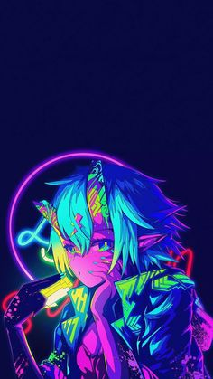 Neon Oni Girl