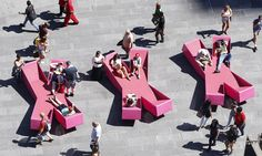 Jürgen Mayer H revives New York Times Square with X-shaped outdoor loungers