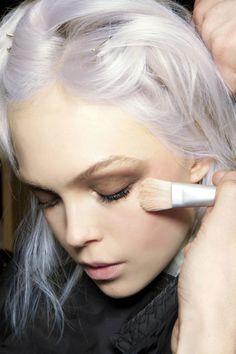 silver white hair...cool