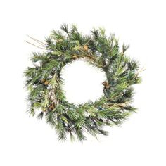 Vickerman�16-in Mixed Country Pine Unlit Artificial Christmas Wreath