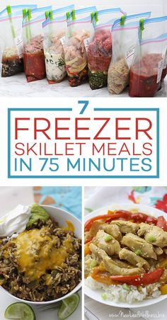 7 Freezer-To-Skillet Meals In 75 Minutes. Dinner Prep Made Easy With These Easy … 7 Freezer-To-Skillet Meals In 75 Minutes. Dinner Prep Made Easy With These Easy Skillet Recipes. Freezer Friendly Meals, Make Ahead Freezer Meals, Freezer Cooking, Frugal Meals, Easy Meals, Inexpensive Meals, Bulk Cooking, Cooking Tips, Easy Chicken Recipes