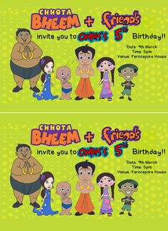 daal,donuts and doodles: Friday Fun-Time!! A super easy Chota Bheem Birthday Party with lots of FREE printables!!