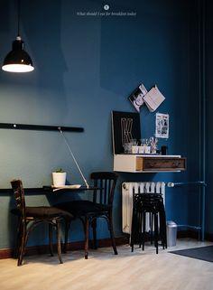 That drawer case on the wall...Eat Berlin - Cafe Kraft / Marta Greber