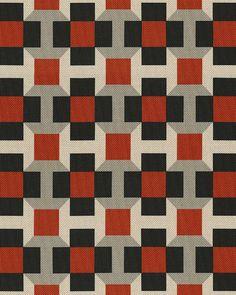 Tissus geometriques Tissu outdoor Pavage (Hermès) 7 | AD Magazine