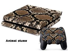 Eddie Internatioanl TM PS4 Console Designer Skin for Sony Playstation 4 Console System Plus Two 2 Decals For PS4 Dualshock Controller  Animal Plume -- Want additional info? Click on the image.