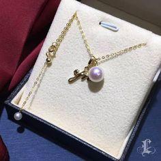 $465.00 | CUSTOM LETTER! 8-8.5mm Akoya Pearl Letter Necklace