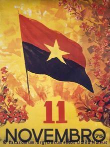 A bandeira do MPLA foi desenhada pelo jovem António Alberto Neto nos finais dos anos 50 do século passado. A 11 de novembro de 1975, dia da proclamação da independência, foi precisamente essa a bandeira empunhada pelo movimento em Luanda