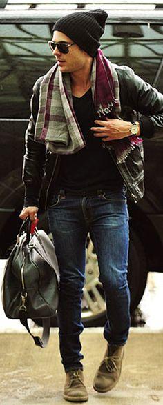 Zac Efron. Love his style!