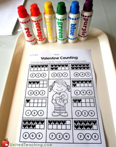 Valentine Counting with Ten Frames