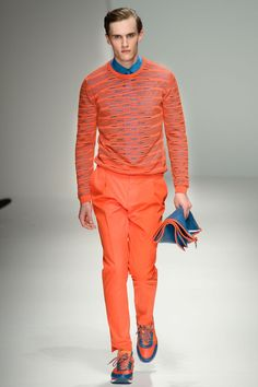 Interesting zig-zag top from the Salvatore Ferragamo Spring/Summer 2013 menswear collection
