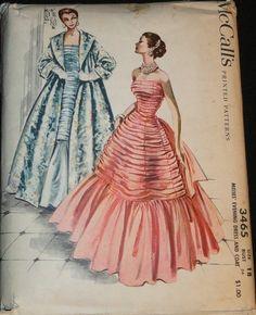 McCall's 3465 Evening Dress & Coat ©1955
