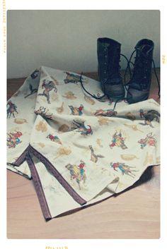 Cowboy Up Western Baby Blanket | VINTAGE