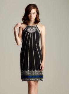 36ac301183b Max Studio Border Printed Halter Dress - ShopStyle Day