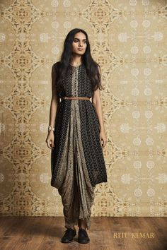 33f946cea34b Of peplum blouses and belted sarees. Indo-Western Fusion fashion Ideas  Western Outfits For