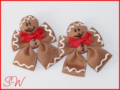 christmas bows-LOVE me some Gingerbread guys!