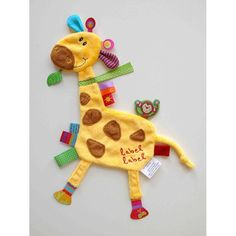 doudou livre pour bébé | Doudou étiquette girafe