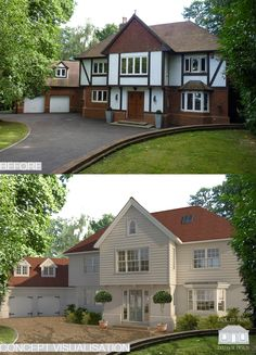 The Ascot Project Concept visualisation of a Back to Front remodelling project. - Before After DIY