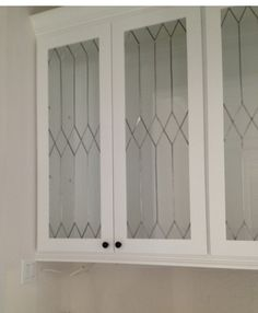 Faux Leaded Glass ~ how to change up plain cabinet doors or windows