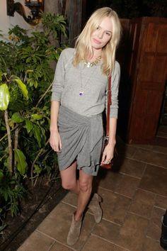 kate bosworth gray wrap skirt