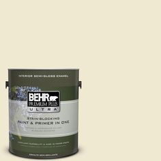 BEHR Premium Plus Ultra 1-gal. #M340-2 Floating Lily Semi-Gloss Enamel Interior Paint