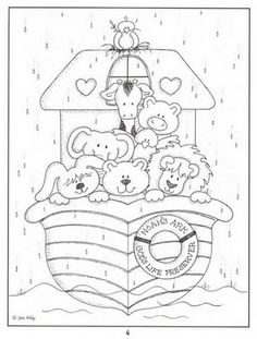 Noahs Ark Bible Coloring Page