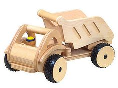 Cito Crane - Cito Wooden Dump Truck - Cito Wood Truck - Cito Toy Construction Vehicles - Blueberry Forest Toys