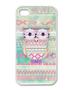OWL Pattern Hard Case For iPhone 4 4S