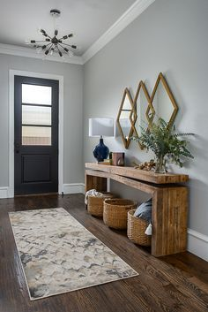beautiful entryway inspiration The post Small Entryway Decor Ideas appeared first on Dekoration. beautiful entryway inspiration The post Small Entryway Decor Ideas appeared first on Dekoration. Entryway Console Table, Rustic Entryway, Modern Entryway, Fall Entryway, Entry Tables, Foyer Furniture, Modern Rustic Decor, Small Entryway Tables, Entryway With Mirror