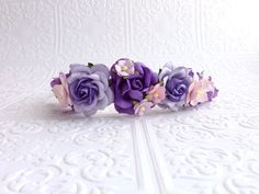 The Two Tone Purple and Pink Goddess Floral Crown on Etsy, $24.99
