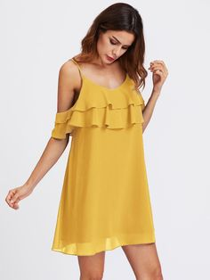 Shop Layered Flounce Trim Dress online. SheIn offers Layered Flounce Trim Dress & more to fit your fashionable needs.
