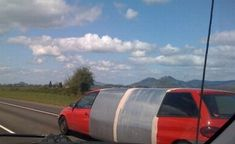 The duck tape limo, very reasonable hourly rates.
