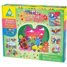 Sticky Mosaics Mosaics by Numbers Ladybugs and Friends Sparkle Tiles, Plastic Hangers, Crafty Kids, Cool Patterns, Game Art, Little Ones, Gifts For Kids, Activities For Kids, Something To Do