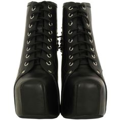 Jeffrey Campbell Lita Spike Black Shoes ($220) ❤ liked on Polyvore
