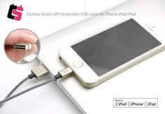 Please visit below for more detail:  https://www.kickstarter.com/projects/1672585167/combo-studio-mfi-reversible-usb-cable-for-ipod-iph