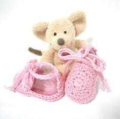 Chaussons bébé sandales en coton rose 3 mois Tricotmuse : Mode Bébé par tricotmuse