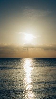 Sea Sunset Sky Ocean Water Nature Green #iPhone #6 #plus #wallpaper
