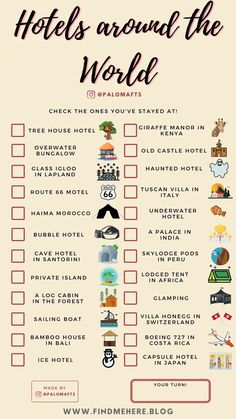 Use this travel bucket list checklist template to track where you have been and where you want to go! Add these activities to your Adventure Travel Bucket List and share it with your friends ! Travel Checklist, Travel List, Travel Goals, Travel Essentials, Free Travel, Holiday Checklist, Beautiful Places To Travel, Cool Places To Visit, Motivacional Quotes