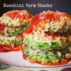 Zucchini Parm Stacks