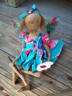 Brush of Color Sew Be It garden artist doll by SistaSisu on Etsy, $96.00