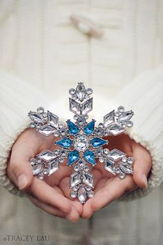 Sparkly blue and white Snowflake..so pretty