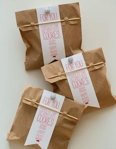 DIY Cookie bags / package idea
