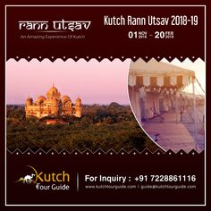 Witness the real beauty of #Kutch at #WhiteRann during the #RannUtsav2018 - 19. Get warm welcome for your family and friends to celebrate special #festival days at the #RannUtsav - Tent City.  For Booking Call +91 7228861116 For More information visit www.kutchtourguide.com