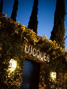 Lucques Restaurant. Chef Suzanne Goin.